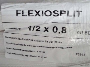 "PRE-INSULATED COPPER TUBE 1/2""- 0,8mm 50m Isoclima"