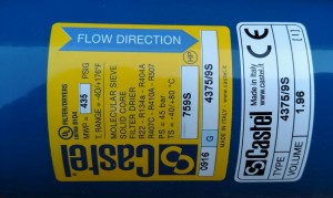 Filter drier 4375/7S 22mm CASTEL