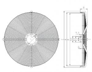 FAN GRID D.800 R18 AC HIDRIA 0300-1-3072