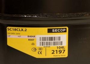 Compressor SC18CLX.2  104L2197 SECOP