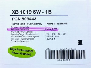 THERMOSTATIC ELEMENT XB 1019 SW-1B ALCO 803443
