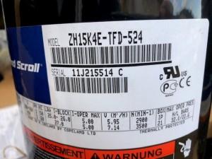 Compressor ZH15K4E-TFD-524 COPELAND 8820886
