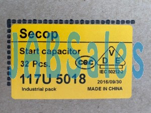 Starting capacitor 117U5018 SECOP DANFOSS