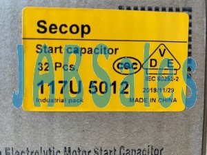 Starting capacitor 117U5012 SECOP DANFOSS