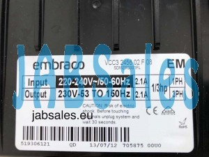 VCC3 2456 02 F 08  EMBRACO